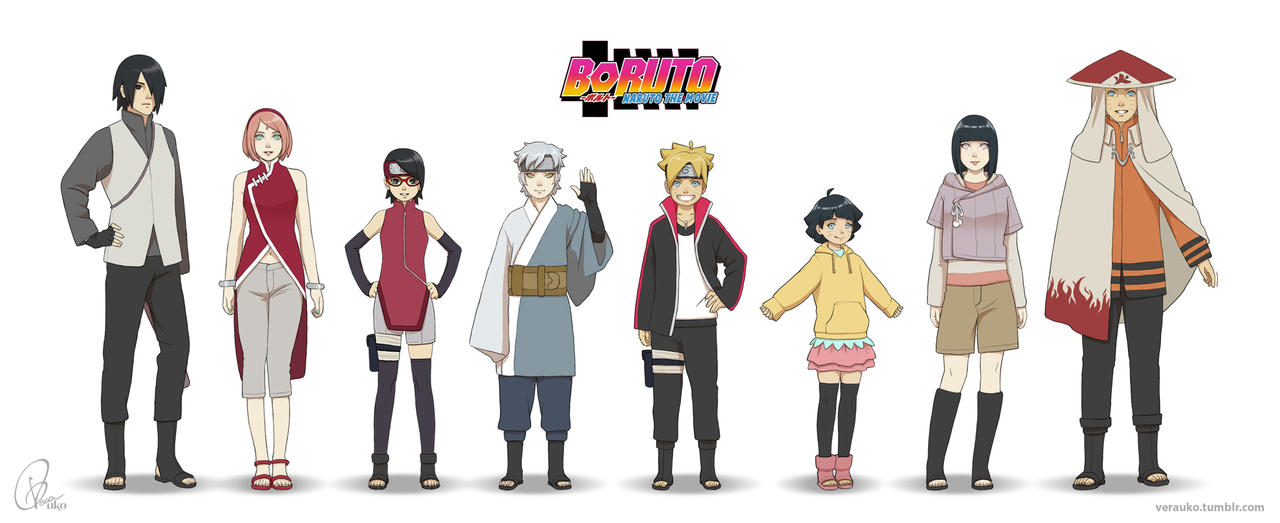 Boruto The Movie Lineup By Verauko