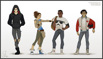 The Force Awakens Highschool AU