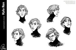Kylo Ren expressions study by verauko