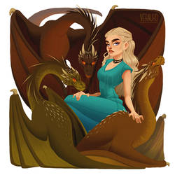 The Mother of Dragons by verauko