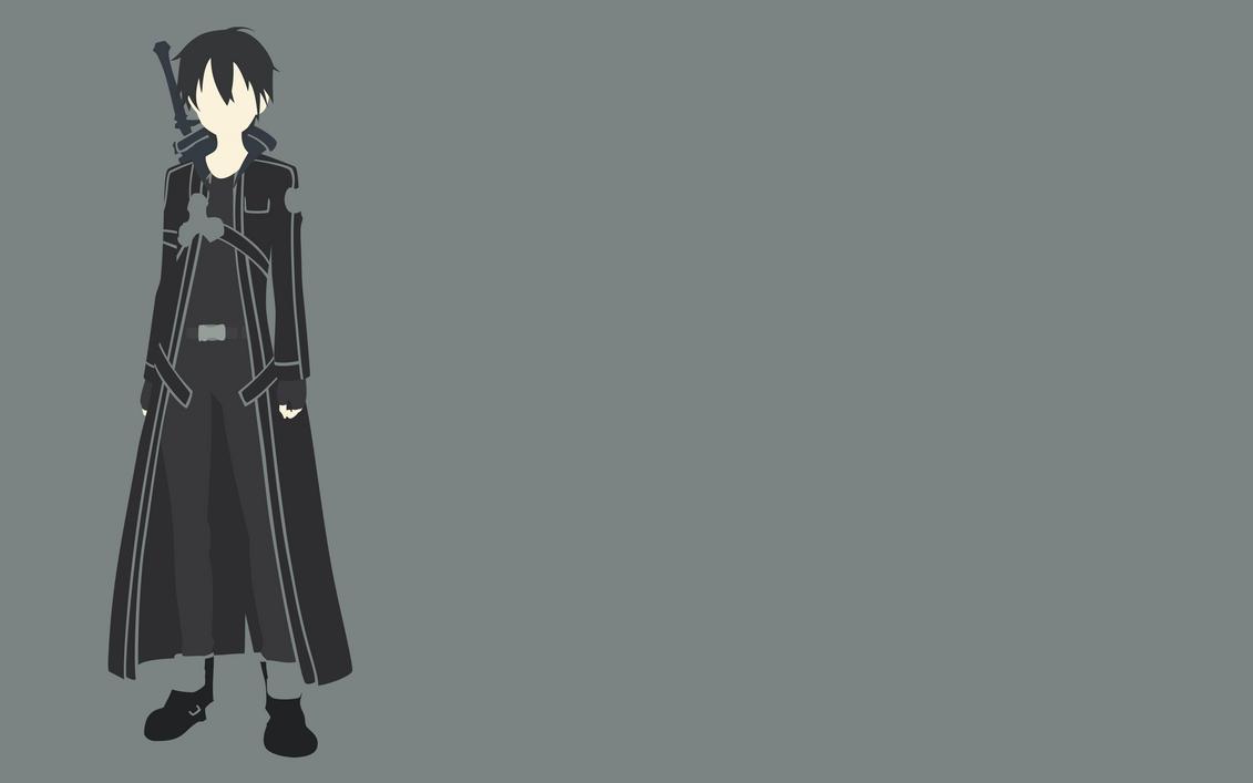 Kirito minimalist design by sirojuddinm on deviantart for Minimal art online