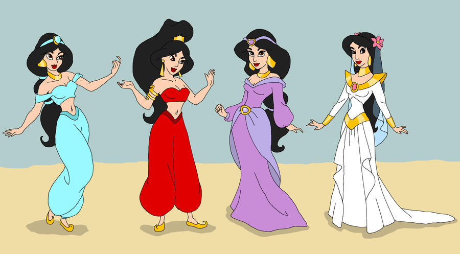 Princess Jasmine dresses by nads6969 on DeviantArt
