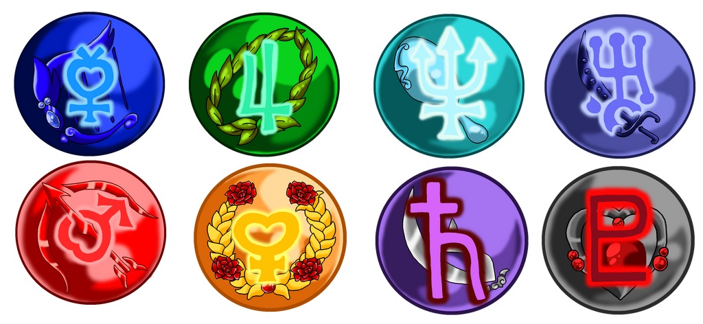 Sailor Senshi Medallions By Nads6969 On Deviantart