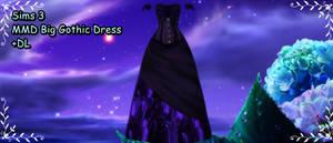 Sims 3 Big Gothic Dress MMD DL