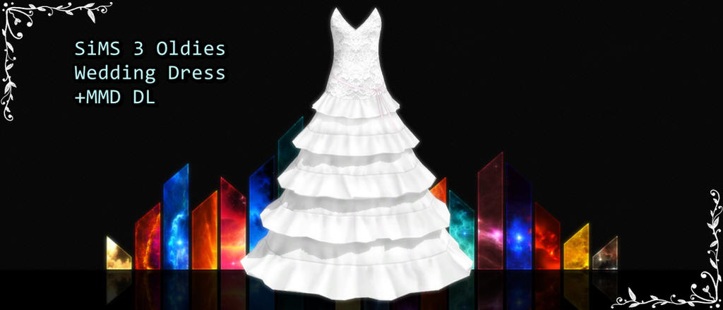 Sims 3 Oldies Wedding Dress MMD DL By XXMMDStoreXx