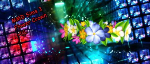 MMD Sims 3 Flower Crown +DL by xXMMDStoreXx
