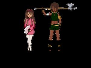 Three Mages OCs: Emi and Lucio