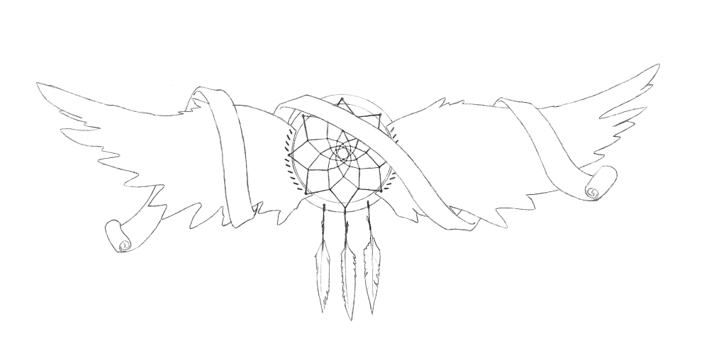 Dreamcatcher Memorial design - dragonfly tattoo