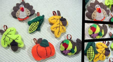 Turkey Day custom ornaments by greenchylde