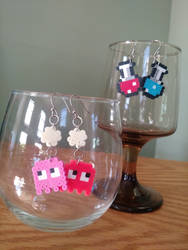 Mini Perler Sprite Earrings by greenchylde