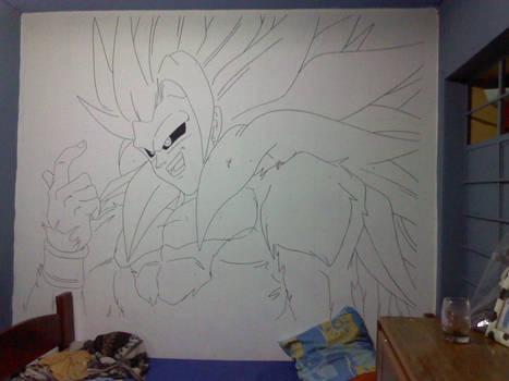 goku ssj5 en mi cuarto