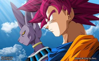 Goku y Bills by 9ary