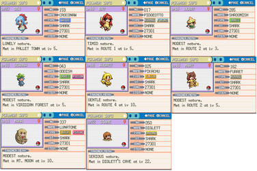 My Moemon Forever Nuzlocke Team 2/19/14