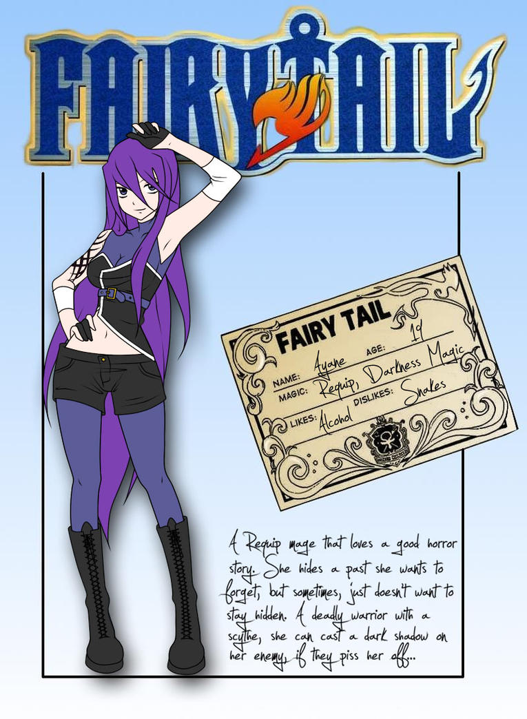Fairy tail ayane by evilami on deviantart - Fille fairy tail ...