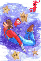 Commission - Super Mario Galaxy by Hurlespoir-Amelie