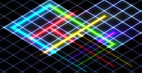 Glowing Grid 2 by DifferentName13