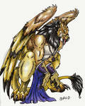 Anthro Gryphon Male