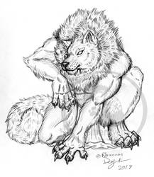 Crouching Lycan sketch
