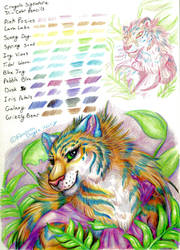 TriColor Pencils Tiger and Swatches