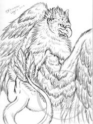 Handsome Gryphon sketch