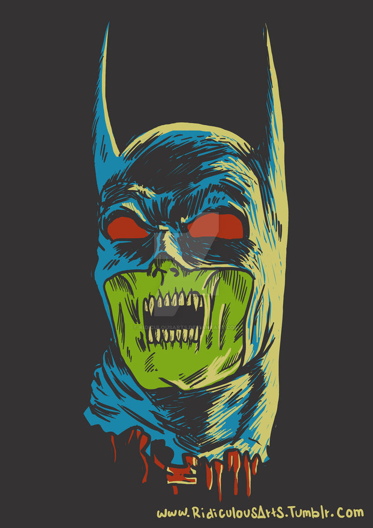 Zombie Batman Comic batman zombie by Ridic...