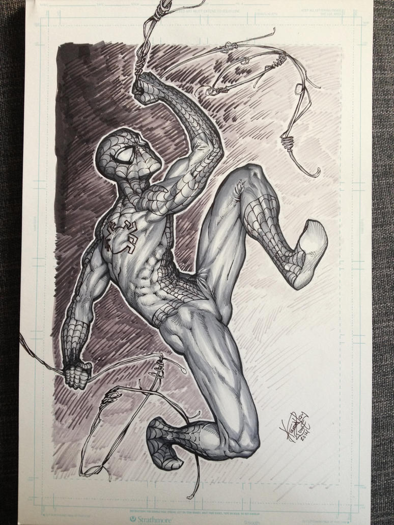 Spider-Man Swinging by ComicAJ