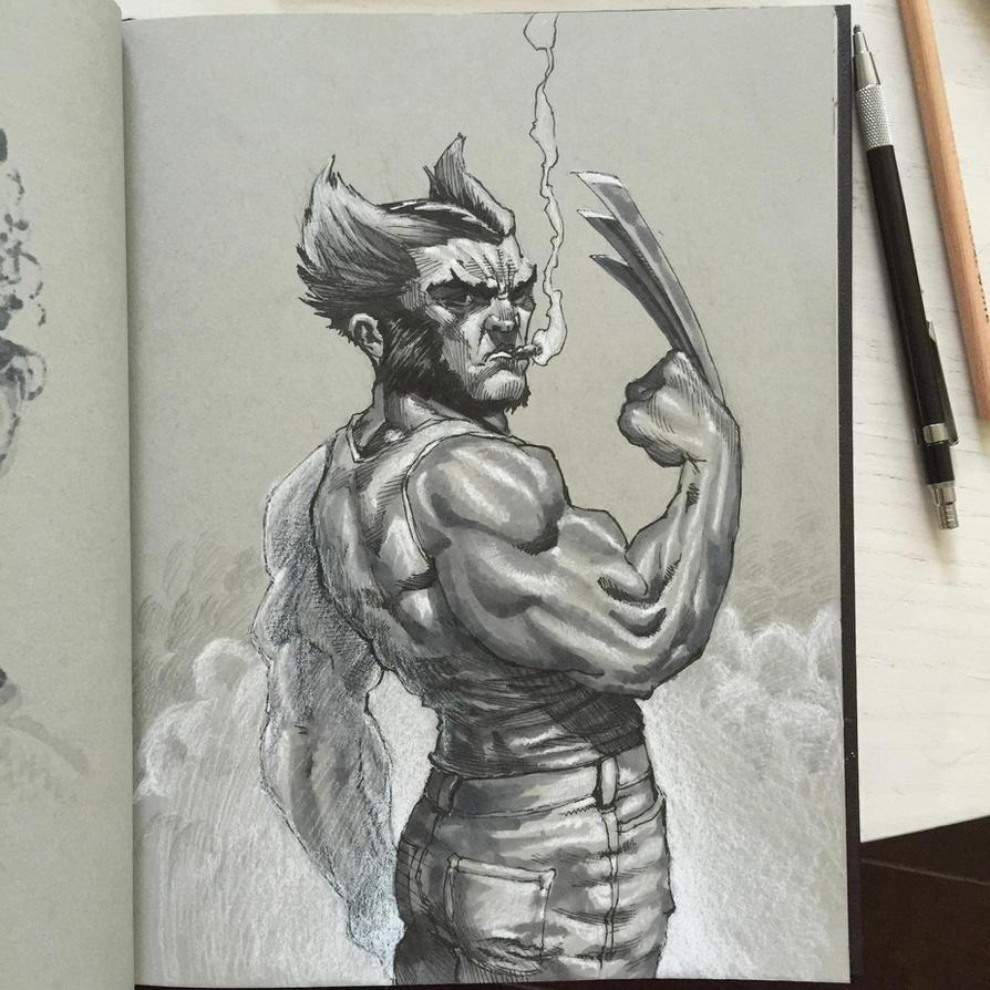 Logan Smoking by ComicAJ