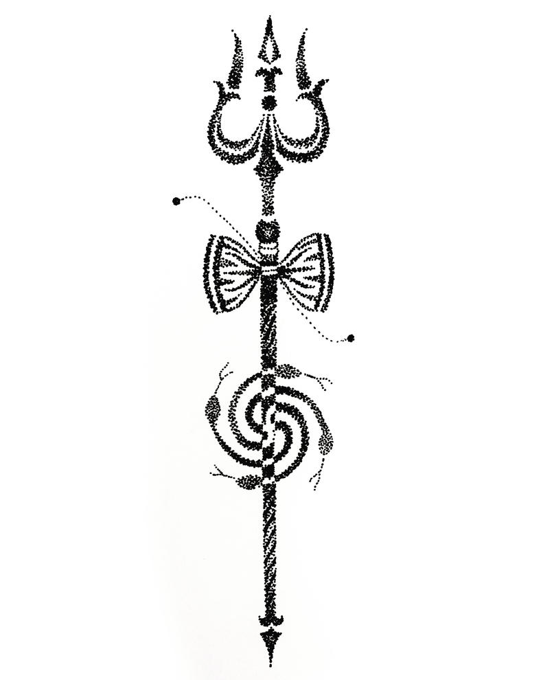 trishul tattoo art dotwork by tattootemple2010 on deviantart Apple Core Coloring apple core clip art silhouette