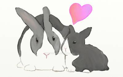Grandma and Baby Bunny
