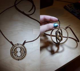 Laser Cut Time-Turner Necklace