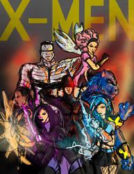X Men Sketch by thegruffman
