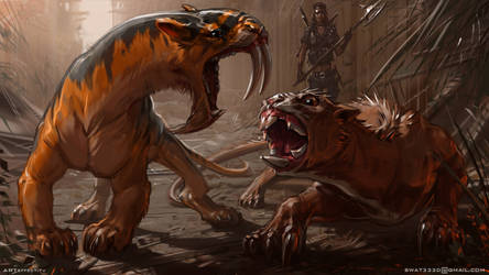 Marsupial predators by Sviatoslav-SciFi