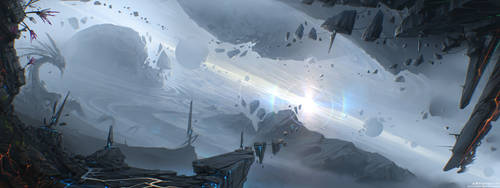 Space heaven, inside interstellar dust cloud by Sviatoslav-SciFi