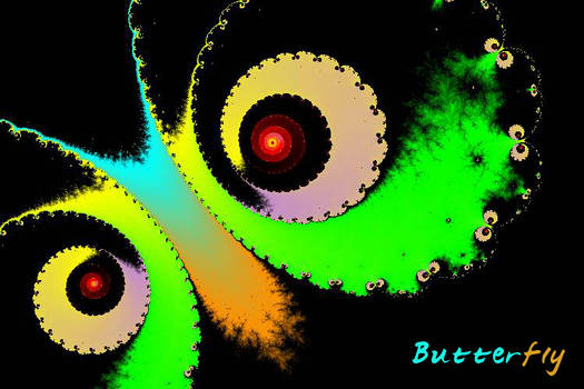 Butterfly on Fractal