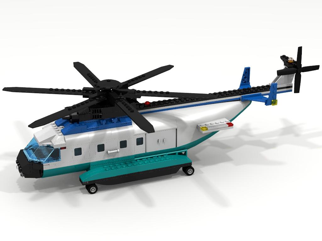 Lego 7738 Cargo Helicopter LDD Render by Seluryar ...