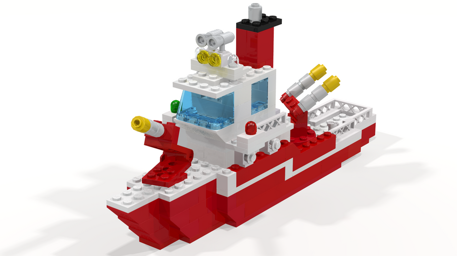Lego 735 Fire Boat LDD Render by Seluryar on DeviantArt