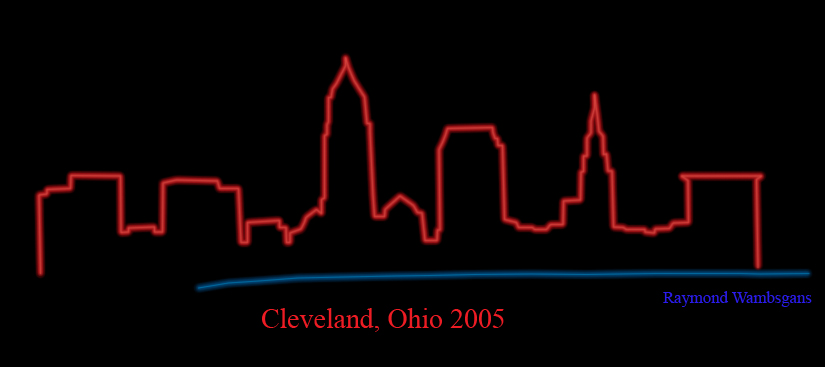 The gallery for ohio outline for Cleveland skyline tattoo
