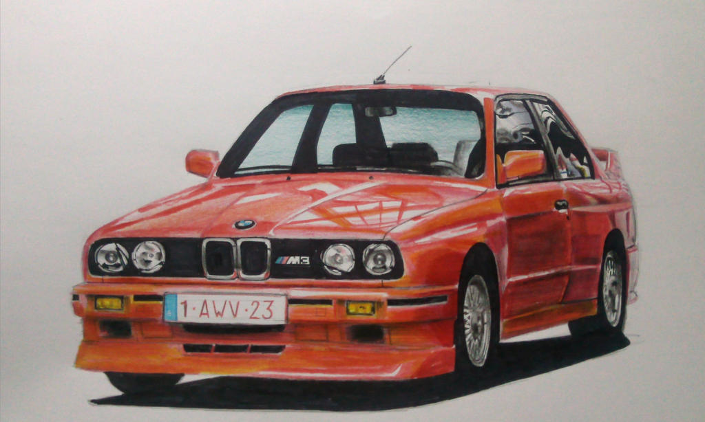 BMW M3 E30 Drawing by And300ZX