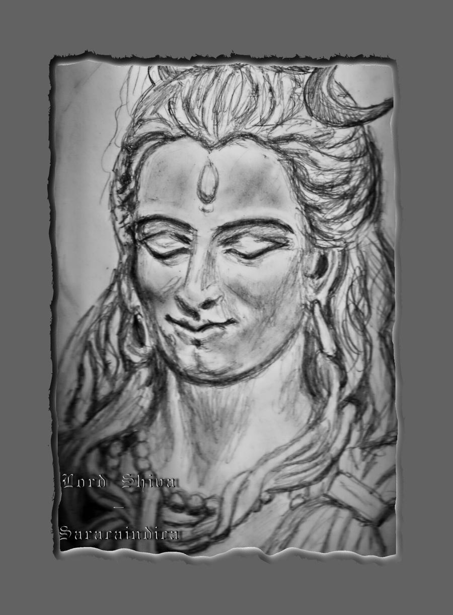 how to draw lord shiva easily