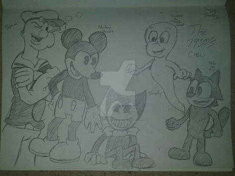 Bendy and his new 1930's friends