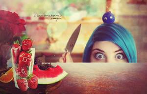 I love strawberry... by Ata-Ur-Rehman