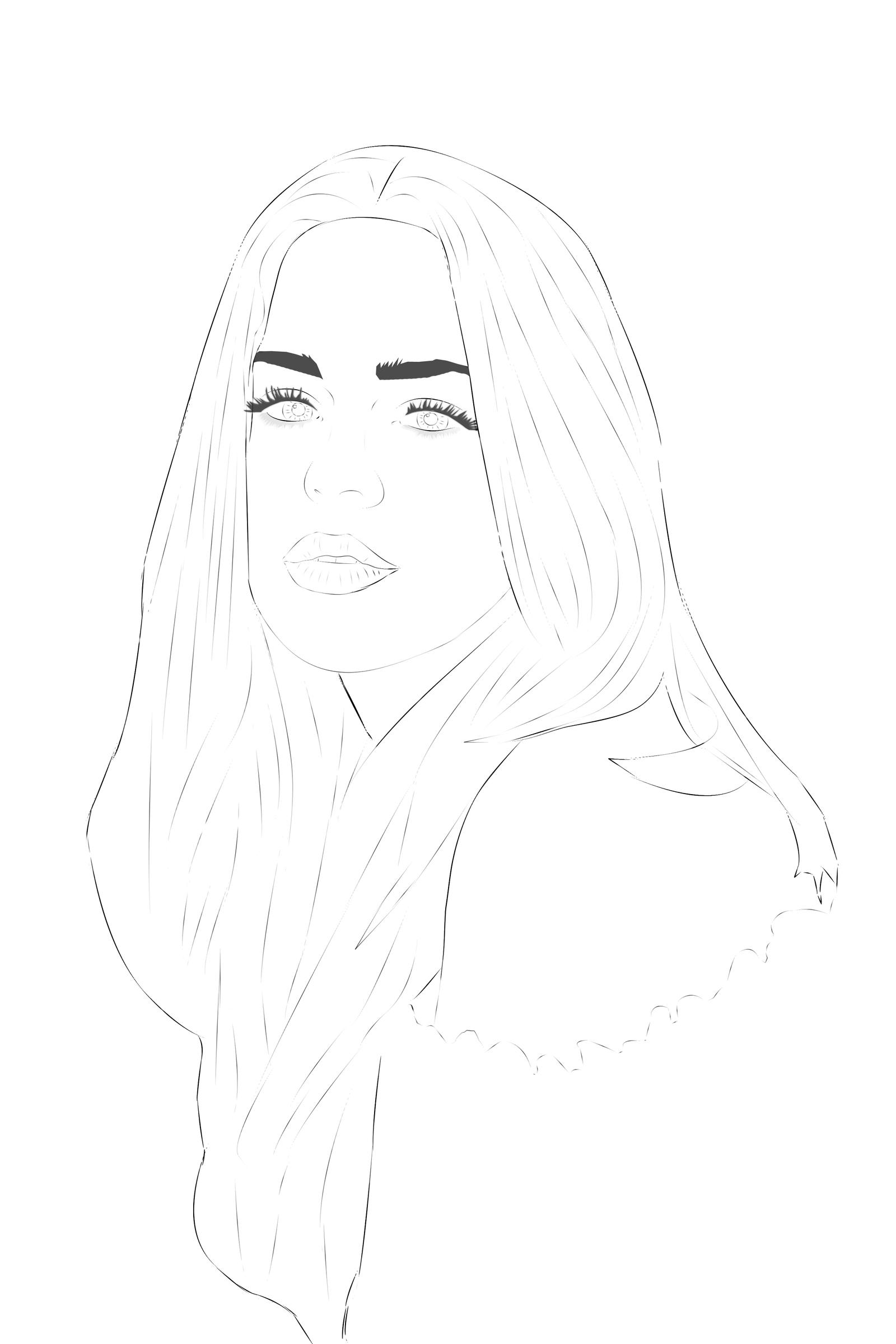 Beauty - Line Art by Abiss