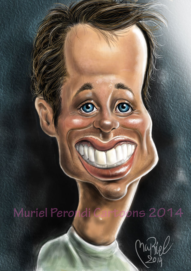 Tyler Ritter caricature by MURIELFREEMIND