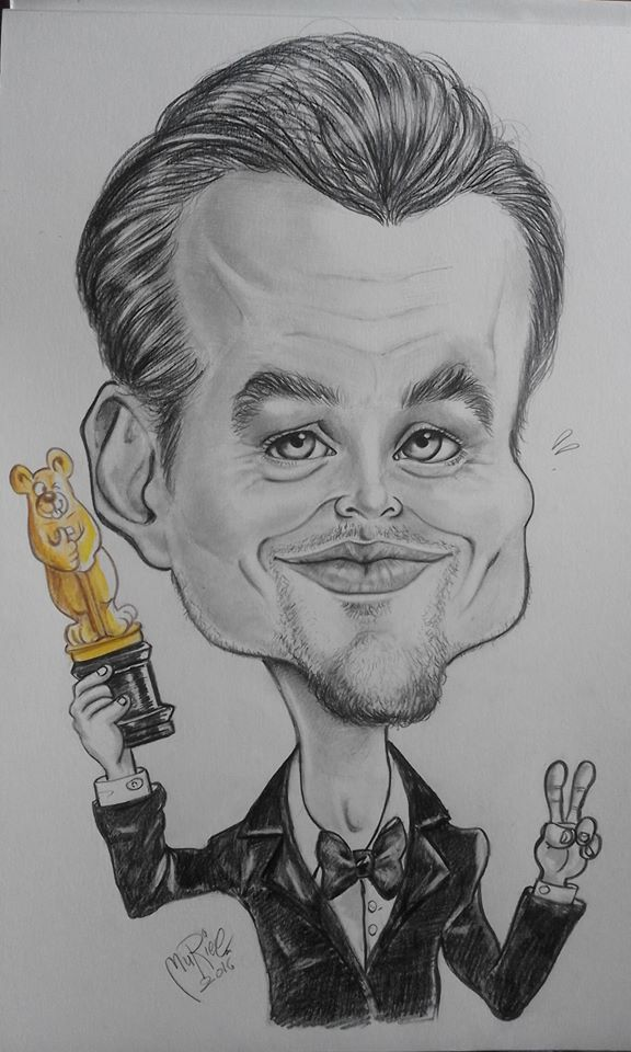 Leonardo Di Caprio's caricature by MURIELFREEMIND