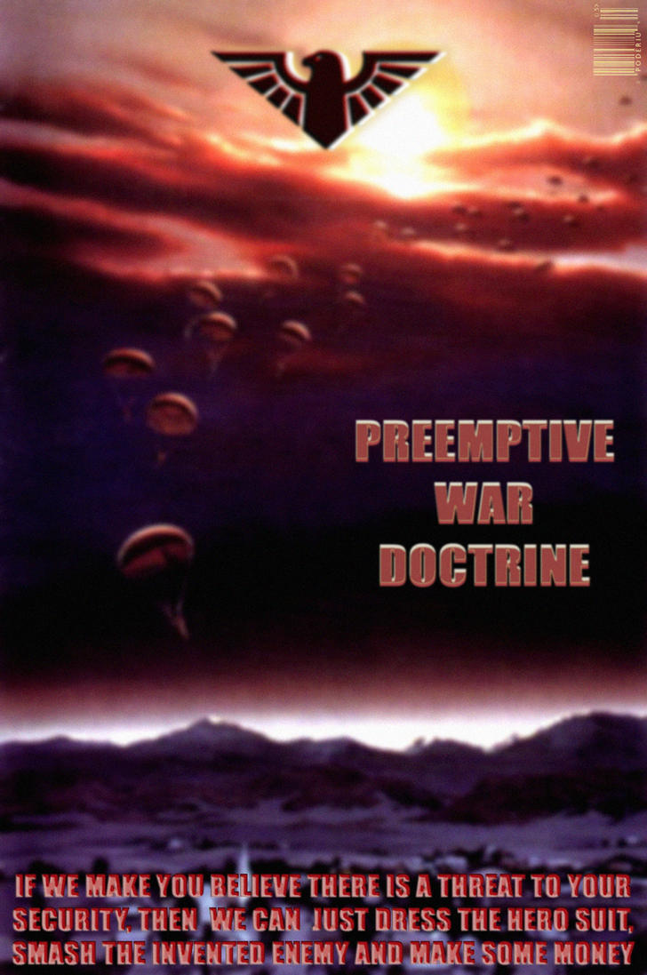 preemptive war A pre-emptive strike is military action taken by a country in response to a threat from another country - the purpose of it is to stop the threatening country from carrying out its threat.
