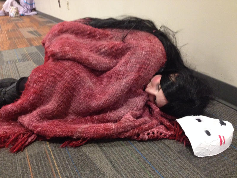 Sleepy...  Buddy cosplay from Lisa the Painful RPG by ChessiaTrick
