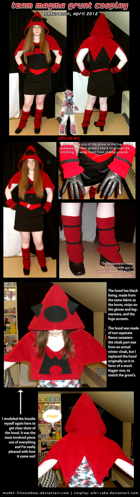 Cosplay - Team Magma Grunt by Ai-Bee