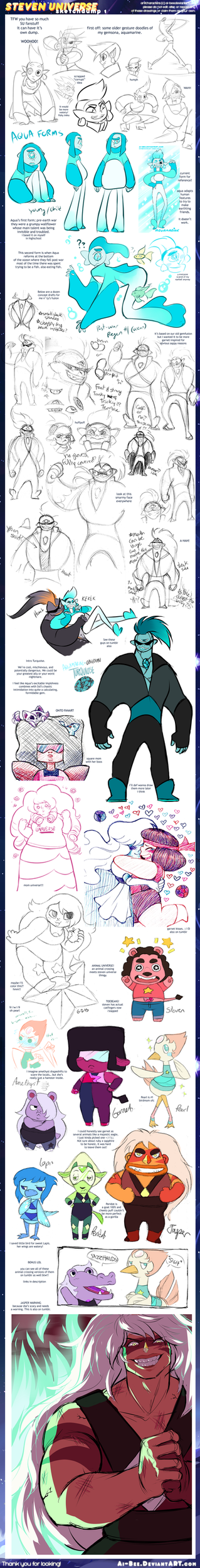 Steven Universe Sketchdump 1 by Ai-Bee