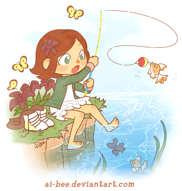 Comm - BrittyDee - ACNL Summer Fishing by Ai-Bee