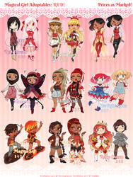 Magical Girl Adopts - RED [SOLD] by Beedalee-Art